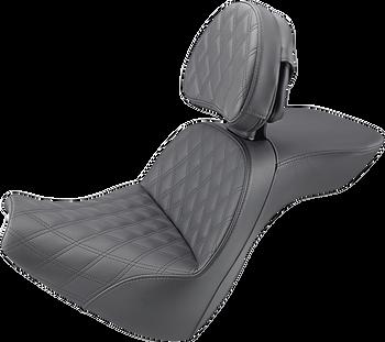 Saddlemen Explorer LS Touring Seat w/ Backrest for 2018-2020 Harley Softail - Breakout
