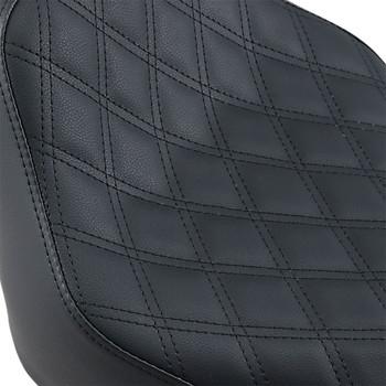 Saddlemen Renegade LS Solo Seat for 2018-2020 Harley Softail FLHC/ FLHCS/ FLDE - Black