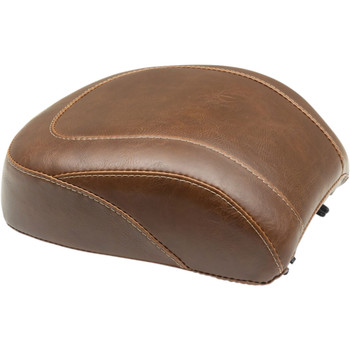 Mustang Brown Wide Tripper Rear Seat for 2018-2020 Harley Fat Boy - Vintage