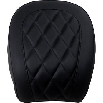 Mustang Black Wide Tripper Rear Seat for 2018-2020 Harley FXBB - Diamond