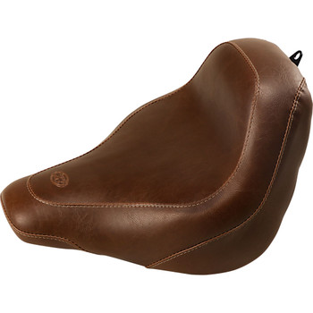 Mustang Brown Wide Tripper Solo Seat for 2018-2020 Harley FXBB - Vintage