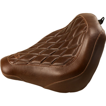 Mustang Brown Wide Tripper Solo Seat for 2018-2020 Harley FXBB - Diamond