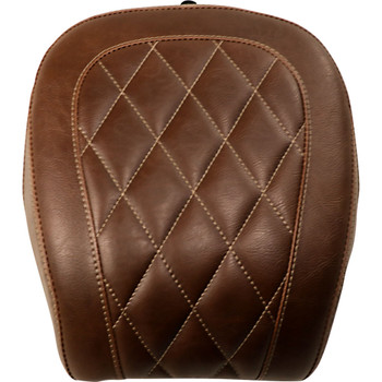 Mustang Brown Wide Tripper Rear Seat for 2018-2020 Harley FXBB - Diamond