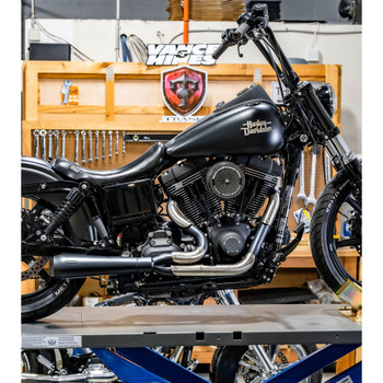 Trask Assault 2-Into-1 Exhaust for 2006-2017 Harley Dyna - Black
