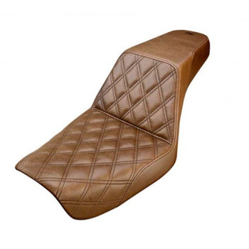 Saddlemen Brown Step Up Front LS Seat for 1991-1995 Harley Dyna