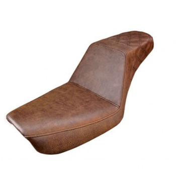 Saddlemen Brown Step Up Rear LS Seat for 1991-1995 Harley Dyna