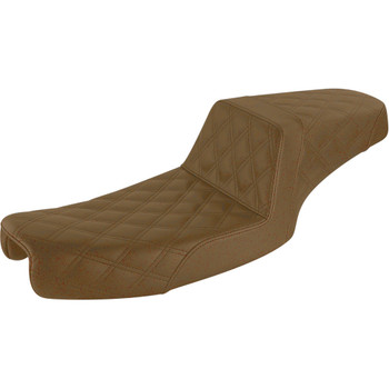 Saddlemen Brown Step Up Full LS Seat for 1991-1995 Harley Dyna