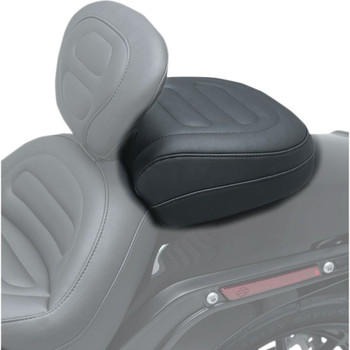 Mustang Max Profile Passenger Touring Seat for 2018-2020 Harley Fat Bob - Trapezoid Stitch