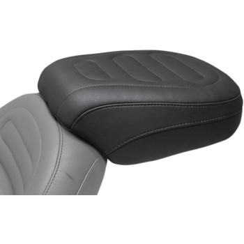 Mustang Max Profile Rear Touring Seat for 2018-2020 Harley Fat Bob - Trapezoid Stitch
