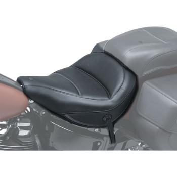 Mustang Max Profile Solo Touring Seat for 2018-2020 Harley FLDE/FLHC - Original Stitch