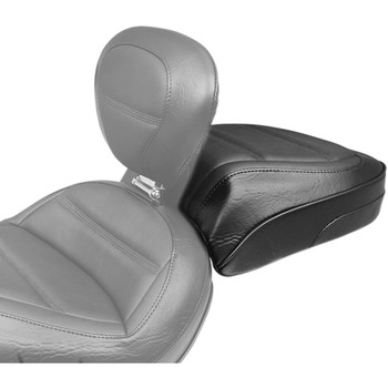 Mustang Rear Touring Seat for Mustang Solo w/ Backrest for 2018-2020 Harley Softail Slim FLSL - Quad Stitch