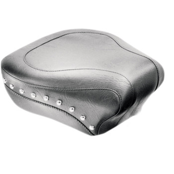 Mustang Wide Rear Seat for 2000-2015 Harley Softail FLSTC/FLSTS - Studded