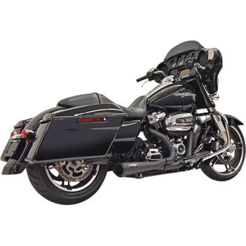 Bassani Short Road Rage 2-1 Exhaust System for 2017-2020 Harley Touring - Black