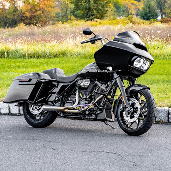 Bassani Short Road Rage 2-1 Exhaust System for 2017-2020 Harley Touring - Stainless