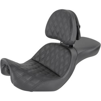 Saddlemen Explorer LS Seat with Driver Backrest for 2006-2017 Harley Dyna