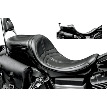 LePera Maverick 2-Up Daddy Long Legs Seat for 2006-2017 Harley Dyna - Stitched