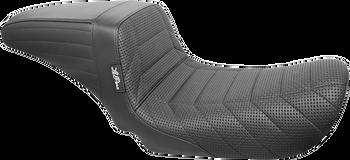 LePera Kickflip Seat for 2006-2017 Harley Dyna - Flat Track Stitch