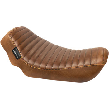 LePera Brown Streaker Solo Seat for 2006-2017 Harley Dyna - Pleated