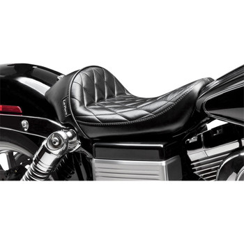 LePera Stubs Cafe Solo Seat for 2006-2017 Harley Dyna - Dimaond