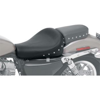 Saddlemen Renegade Solo Seat for 2004-2020 Harley Sportster with 4.5 Gal Tank - Studded