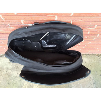 Leather Pros Retro Series V3 Saddlebags for Harley Softail