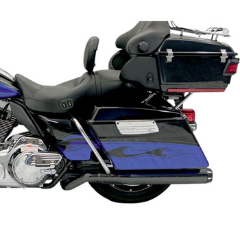 Bassani Black B4 Pseudo Pipe for 2017-2020 Harley Touring - Straight Can-style Muffler - Black