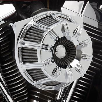 Arlen Ness 10-Gauge Inverted Air Cleaner for 1999-2017 Harley Twin Cam EFI/CV Carb - Chrome