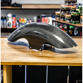Hofmann Designs Carbon Fiber Shorty Bagger Front Fender for 2014-2020 Harley Touring