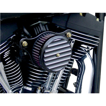Joker Machine High-Performance Air Cleaner 1999-2017 Harley Twin Cam Dual Cable - Finned Black