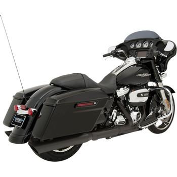 "Drag Specialties 4"" Slashdown Slip-On Mufflers for 2017-2020 Harley Touring - Black"