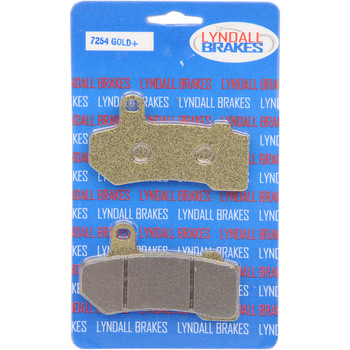 Lyndall Gold+ Brake Pads for Harley - Repl. OEM 41854-08/41852-06/42850-06/42897-08