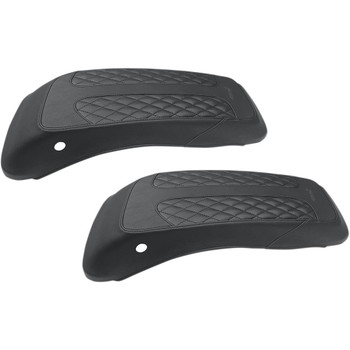 Mustang Saddlebag Lid Covers for 2014-2020 Harley Touring - Diamond Stitch