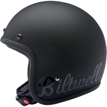 Biltwell Bonanza ECE Helmet - Flat Black Factory