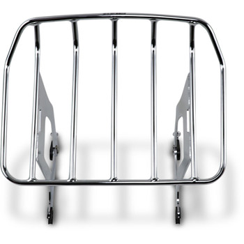 Cobra Big Ass Detachable Chrome Solo Luggage Rack for 2009-2020 Harley Touring - Chrome