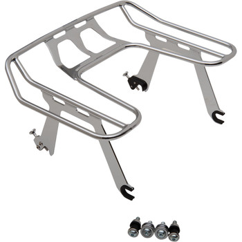 Cobra Big Ass Detachable Solo Luggage Rack for 2018-2020 Harley Fat Boy & Breakout - Chrome