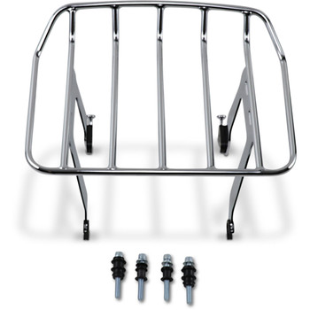 Cobra Big Ass Detachable Solo Luggage Rack for 2018-2020 Harley Softail FLSL/ FXBB - Chrome