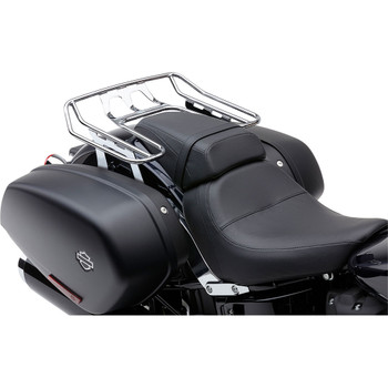 Cobra Big Ass Detachable Solo Luggage Rack for 2018-2020 Harley Softail Sport Glide FLSB - Chrome