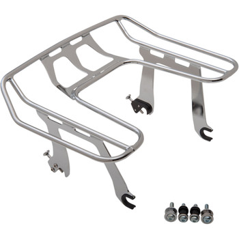 Cobra Big Ass Detachable Solo Luggage Rack for 2018-2020 Harley Softail FXLR - Chrome