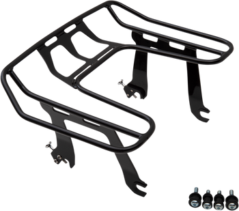Cobra Big Ass Detachable Solo Luggage Rack for 2018-2020 Harley Softail FXLR - Black