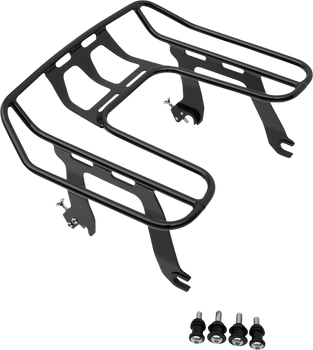 Cobra Big Ass Detachable Solo Luggage Rack for 2018-2020 Harley Softail Fat Bob - Black