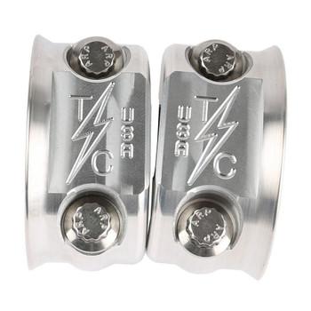 Thrashin Supply Clutch/Brake Control Perch Clamps for Harley - Raw