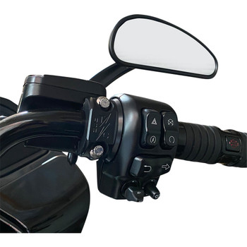 Thrashin Supply Clutch/Brake Control Perch Clamps for Harley - Black