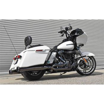 Bassani True-Dual Down Under Exhaust System for 2017-2020 Harley Touring - Mercury Dark Chrome