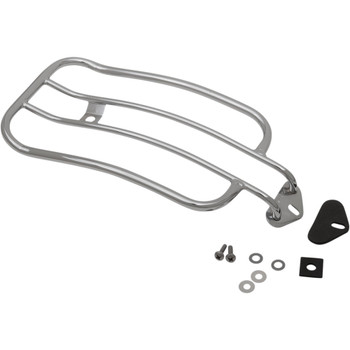 """Motherwell 7"""" Solo Luggage Rack for 2006-17 Harley Dyna Models - Chrome"""