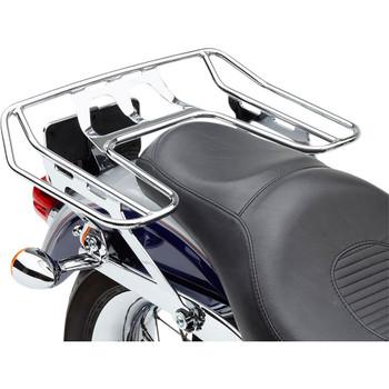 Cobra BA Wraparound Detachable Solo Luggage Rack for 2006-2017 Harley Dyna w/ OEM Seat - Chrome