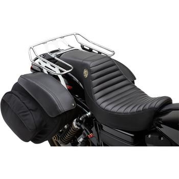 Cobra BA Wraparound Detachable Solo Luggage Rack for 2006-2017 Harley Dyna w/ Saddlemen Seat - Chrome