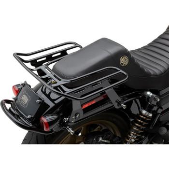 Cobra BA Wraparound Detachable Solo Luggage Rack for 2006-2017 Harley Dyna w/ Saddlemen Seat - Black