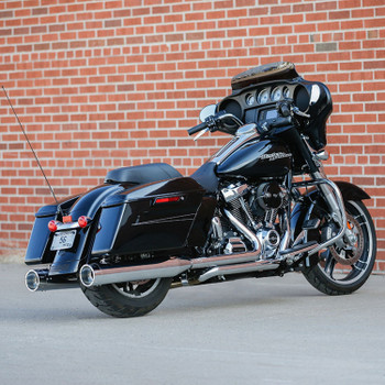 S&S El Dorado 2-2 50-State Exhaust System for 2017-2020 Harley Touring - Chrome with Chrome Tracer Caps