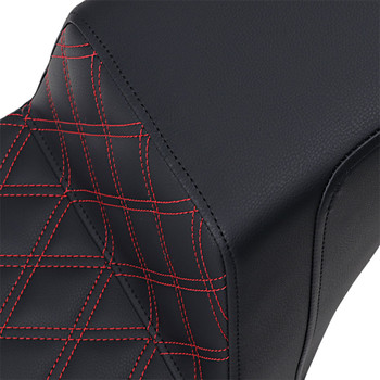 Saddlemen Step Up Seat for 2018-2020 Harley FXST/FXBB - Red Lattice Stitch
