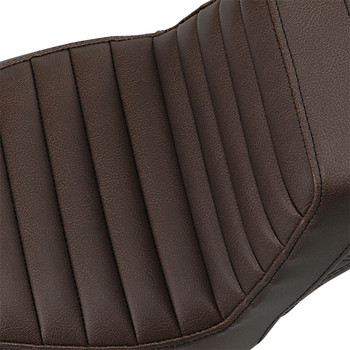 Saddlemen Brown Step Up Seat for 2018-2020 Harley Softail FXST/FXBB - Front TR / Rear LS